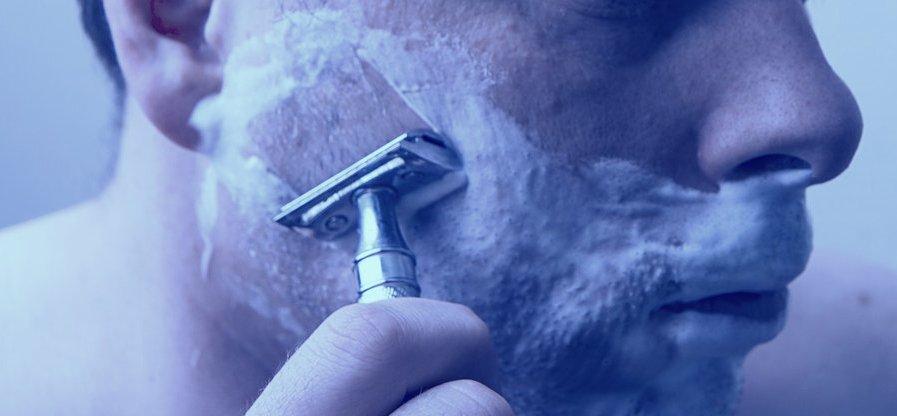 бритье, бритва, безопасная бритва