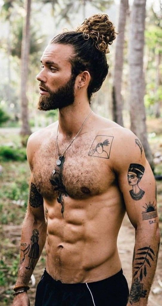 Длинные мужские прически и стрижки